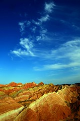 Danxia Landform   (Melinda ^..^) Tags: china sky cloud color nature weather colorful mel melinda gansu  landform danxia zhangye   chanmemel
