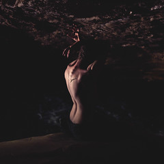 A place to hide my fragile heart (Robert Weinraub) Tags: black canon project dark myself back pain loneliness cave 100