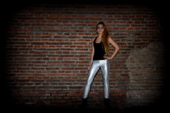 (azulramos) Tags: portrait fashion night silver dark lights design neon photoshoot pants fashionphotography models makeup glamrock fluo fashionphotoshoot indumentary