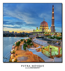 PUTRA MOSQUE (mozakim) Tags: sunset lake building night dusk mosque scape hdr zaki putra 5exps mozakim