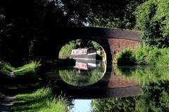 Grand Union Canal (Trev Earl) Tags: canon miltonkeynes lock swans signet simpson barge narrowboat swingbridge grandunioncanal fennystratford yahoo:yourpictures=reflectionsv2 ilobsterit