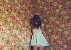 (yyellowbird) Tags: wallpaper house selfportrait flower abandoned floral girl garden illinois lolita cari