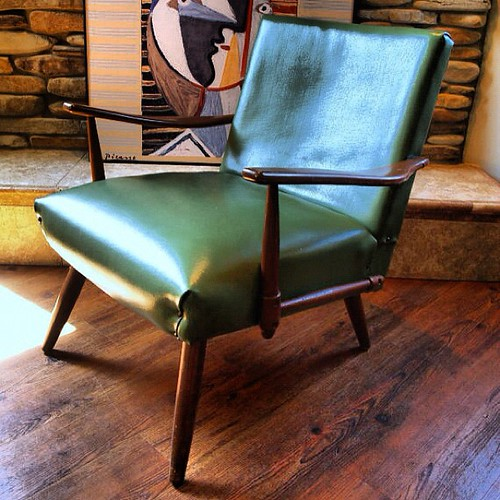 Fabulous Danish Modern Lounge Chair Vintage Upholstered