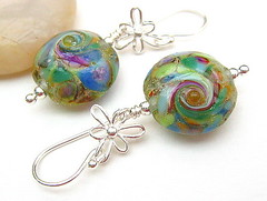 Dragonfly - Sold (Beguiled By The Bead) Tags: jewelleryjewelryearrings glasslampworksterlingsilverchristmasgift