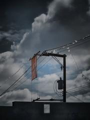 installation for a blue sky (Eldon Underhill) Tags: summer bluesky august2012 ipadography fauxinstallation