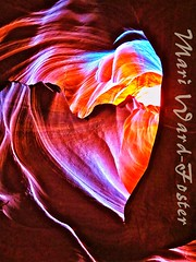 Blazing Heart (MarsW) Tags: arizona usa underground heart canyon navajo nationalparks antelopecanyon lightshaft navajotriballand mygearandme nationpageslot
