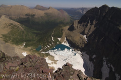 "Iceberg Lake from Iceberg Peak • <a style=""font-size:0.8em;"" href=""http://www.flickr.com/photos/63501323@N07/7747854572/"" target=""_blank"">View on Flickr</a>"