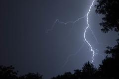 Lightning (Christopher Wallace) Tags: nikon d7000 blacksburg virginia storm lightning thunder night sky dark weather 18200mmvr vr 18200mm outdoor nature natural power shock bolt lightningbolt