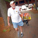 A dad moves his son into Turlington Residence Hall.MOVEIN.2012.1402