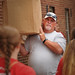 A dad takes care of some of the heavy lifting while moving his child into their residence hall.MOVEIN.2012.1303