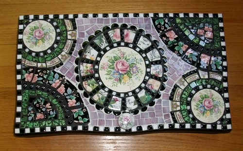 Another rose mosaic keepsake box