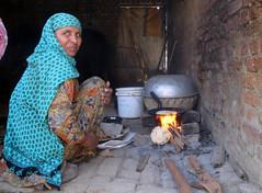 Making chapatti (annieminna) Tags: india cooking village haryana chapatti