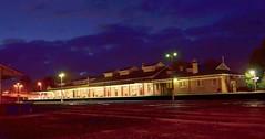 Warragul Railway Station at night (phunnyfotos) Tags: railroad light night lights nikon railway australia victoria railwaystation vic railwayline 1918 gippsland warragul auspctagged pc3820 d5100 nikond5100 phunnyfotos warragulrailwaystation
