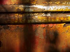parallel (blairware) Tags: red car rust paint steel flaking crazed mcleans