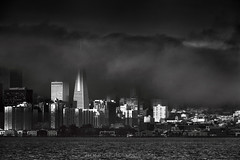 The Waterfront  **EXPLORE** (Andrew Louie Photography) Tags: sf city white black fog canon landscape bay interesting san francisco moody cityscape dynamic foggy august explore 13 jazzy 2012 flickriver