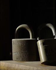 N&W Locks (photo_secessionist) Tags: railroad colour macro digital nw close pentax lock dust km unedited pentaxart pentaxdalf35561855mmallens