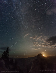Perseid Meteor Shower over Yosemite valley (Sankar Salvady) Tags: california ca nightphotography usa halfdome yosemitenationalpark nationalparkservice shootingstars glacierpoint meteorite 2012 shootingstar meteorshower perseid nationalparksofusa sankarsalvady sankarasubramanian inactivememberofbayareanightphotography