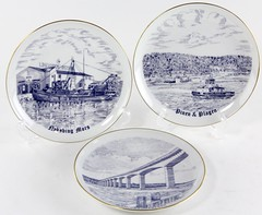 3036. (3) Bing & Grondahl Nautical Plates
