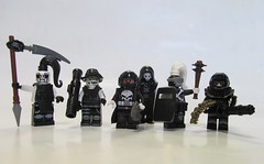 Ministry Faction (Hammerstein NWC) Tags: brick ego lego fig grim reaper mini warriors punisher soth headhunter livingdead faction sidan technomancer brickarms brickforge minifigcat maaws eclipsegrafx brickwarriors