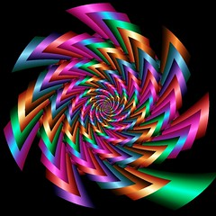 CanCan (abstractartangel77) Tags: colour dance movement bright spirals twirl layers cancan fractals ultrafractal fractalspirals