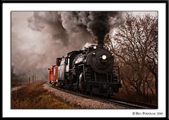 Soo Line 1003 Rubicon curve 2 (Ben Podolak) Tags: train steam line mikado soo 1003