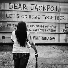 The Dreamer (Joel Levin Photography) Tags: street urban blackandwhite bw philadelphia sign square pretty candid streetphotography squareformat philly allrightsreserved iphone mobilephotography iphone4 bwartaward thedefiningtouch thedefiningtouchgroup iphoneography deftouch editedanduploadedoniphone ©joellevin definingtouchgroup