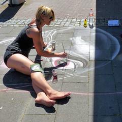 Straßenmalerei Geldern (die.tine) Tags: streetart chalk farbe streetpainting kreide geldern strasenkunst strasenmalerei strasenbemalung