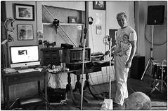 Dan in the Studio, August 26, 2012 (Maggie Osterberg) Tags: bw oakland blackwhite nebraska fujifilm x100 danhanna silverefexpro2