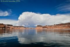Lake Powell (simone_a13) Tags: arizona usa cloud lake reflection weather utah unitedstates thunderstorm lakepowell