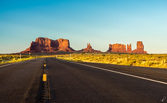Monument Valley III (Empty Quarter) Tags: sony a7r 2470 f4 monument valley usa utah arizona desert navajo sunset road highway symmetry landscape butte