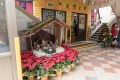 Schoolhouse Nativity 1 (camike) Tags: 24120mmf4gvr christmas d750 doors flowers religion school signs