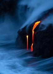 Creation (Aerindad) Tags: lava volcano hawaii seascape ocean sunrise blue hour