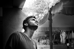 Hope.... (Naveen Gopalakrishnan) Tags: union ay celebration posing monochrome photography nikon d3200 hope lookin up sunrays auditorium best friend stupid crazy day good vibes nvn