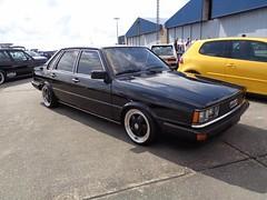 Audi 80 Typ 81 (911gt2rs) Tags: treffen meeting show tuning tief low stance 4000 schwarz black oldschool
