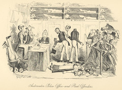 """""""Automaton Police Office and Real Offenders"""" (Rescued by Rover) Tags: dickens charles sketches by boz george cruikshank victorian police crime illustration automaton office offenders criminals"""