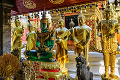 Doi Suthep, The Green Buddha in Meditation Pose (Anoop Negi) Tags: green buddha doi suthep thailand glass gold standing sitting meditation chiangmai anoop negi ezee123 photo photography travel journey