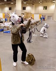 DSC_5350 (slamto) Tags: cosplay torontocomicon starwars droid horseheadmask unicornheadmask