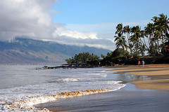 Island of mellow / Blago ostrvo (Gordana AM) Tags: wwwgordanaphotocom gordanamladenovic gordana photography photographer photo portcoquitlam bc britishcolumbia vancouver lowermainland canada lepiafgeo maui hawaii charley young beach sand water sea ocean pacific waves motion sandy palm trees pristine early morning walk clouds mountain volcano