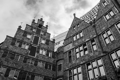 Old Building (Imaginative Lens) Tags: black white building old architecture bremen germany windows sky clouds hdr som amazing a7 awesome quality sony a7mark2 city culture cityscape camera fantastic blackandwhite monochrome complex alley outdoor structure skyscraper photo border