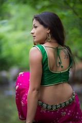 TN-9791 (Tejes Nayak) Tags: back choli color feature garment green lehenga location mona outdoor people pink accessories earring tatoo top