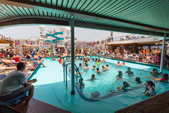 You Can Tell It's a Day-at-Sea! (Jerry Bowley) Tags: cruise caribbean carnivalglory swimming vacation lidodeck turquoisepool easterncaribbean carnivalcruiselines waterslide holiday twister