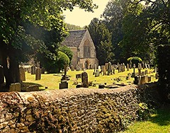 Hidden Gem! (springblossom3) Tags: church minster lovell oxfordshire cotswolds graveyard tombstones dry stone wall nature