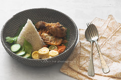 nasi uduk (asri.) Tags: 2016 onwhite indonesianfood foodstyling foodphotography 105mmf28