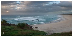 South from Hastings Point (pbaddz) Tags: sand sunrise hastingspoint pacificocean australia shorescape waves newsouthwales coast clouds rocks