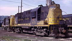 Northern Pacific Railway Alco RS11 915 at Duluth, Minnesota July 1968 (Twin Ports Rail History) Tags: twin ports rail history by jeff lemke time machine np northern pacific railway alco diesel electirc locomotive rices point duluth minnesota 1968