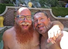 IMG_7887 (danimaniacs) Tags: party shirtless man guy sexy hot bear beard scruff smile hairy pierced bald