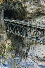 Taiwan-121116-652 (Kelly Cheng) Tags: asia northeastasia taiwan tarokogorge tarokonationalpark architecture bridge building color colorful colour colourful gorge landscape nature nopeople nobody outdoor rock tourism travel traveldestinations vertical
