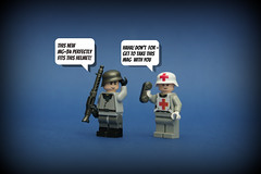 MG-34 -G.I.Brick- ([Stijn Oom]) Tags: new war lego german ww2 ba medic germans kurz karabiner releases kar98 brickarms gibrick dutchlego brickarmsreleases