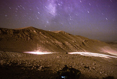 IMG_6928 (nivsh) Tags: longexposure blue light sky night canon dark stars landscape lights israel nightshot desert hill hills 7d milky lightbeams lightstreak milkyway d7 lightsisrael