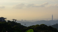Through the smog (vyxun) Tags: city travel sunset sky mountain nature silhouette skyline scenery asia taiwan hike explore taipei